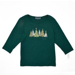 Karen Scott Women's Plus Size Holiday  Shirt